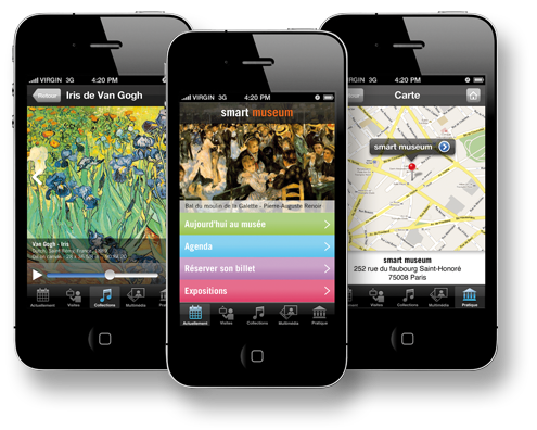 Smart Museum, création d'application iPhone, iPad et Android